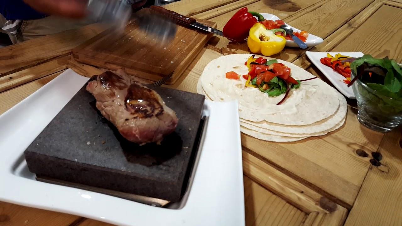 black rock grill hot stone cooking on steak stones youtube. Black Bedroom Furniture Sets. Home Design Ideas