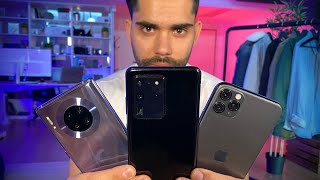 Galaxy S20 Ultra CARA A CARA con iPhone 11 Pro Max y Mate 30 Pro