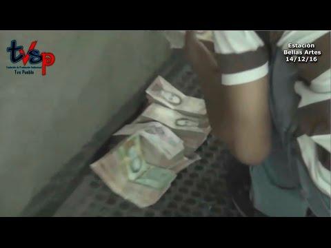 """Operativo """"Navidad Segura"""" en el Metro de Caracas. Requisa de armas, drogas y dinero. Venezuela"""