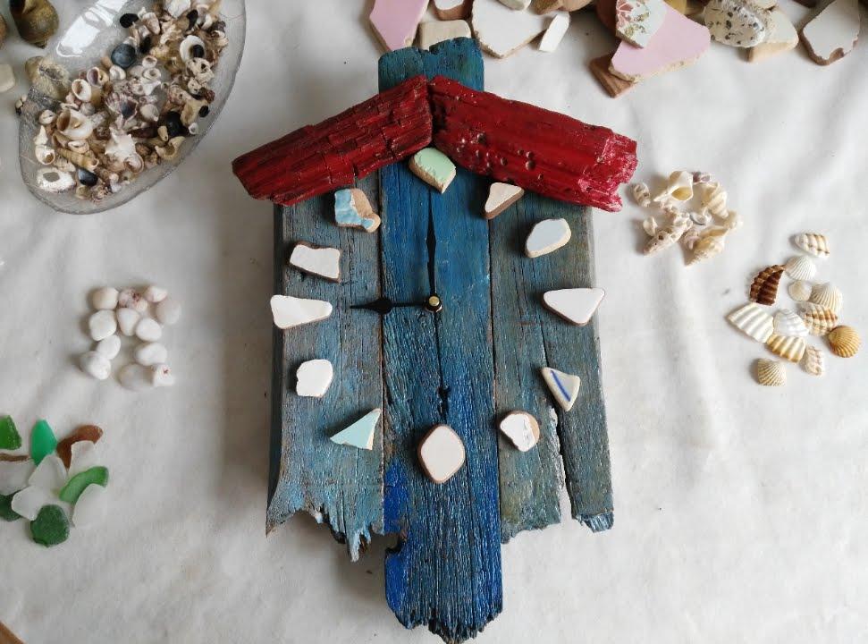 Manualidades con madera reciclada reloj artesanal de - Trabajos manuales de madera ...
