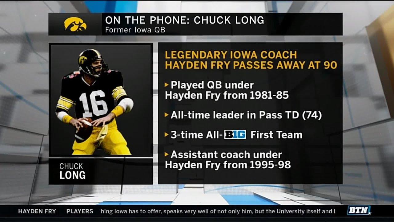 Chuck Long Remembers Former Coach Hayden Fry   Iowa   B1G ...