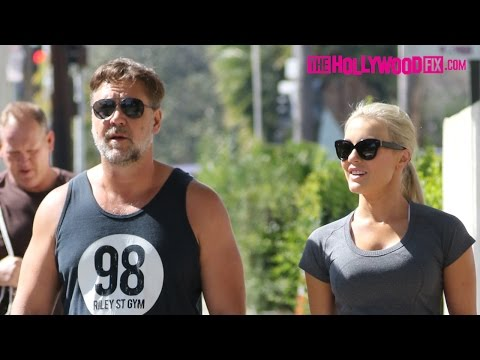 Russell Crowe & His New Girlfriend Go For A Walk Together In West Hollywood 2.28.16