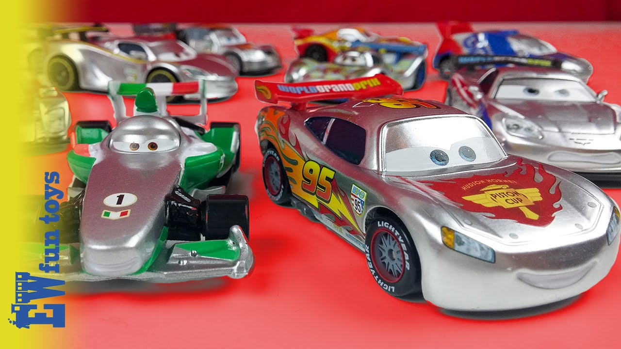 Disney Cars Diecast: Silver Racer Disney Pixar Cars Diecast Toys Part 4 Mattel