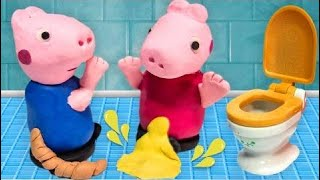 Peppa Pig Play-Doh Toilet Training Accident Pees Her Pants and Poops