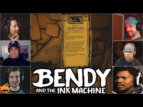 Gamers Reactions to the Voice Of Shawn Flynn jacksepticeye voice  Bendy and The Ink Machine Ch 3