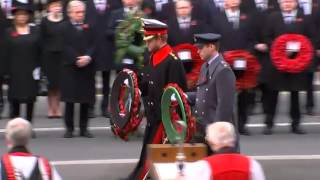 Remembrance Sunday: Royals lead wreath-laying at The Cenotaph