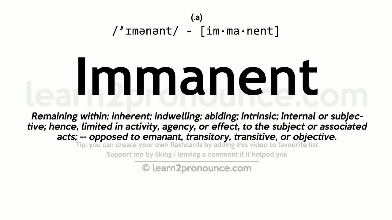 Immanentti