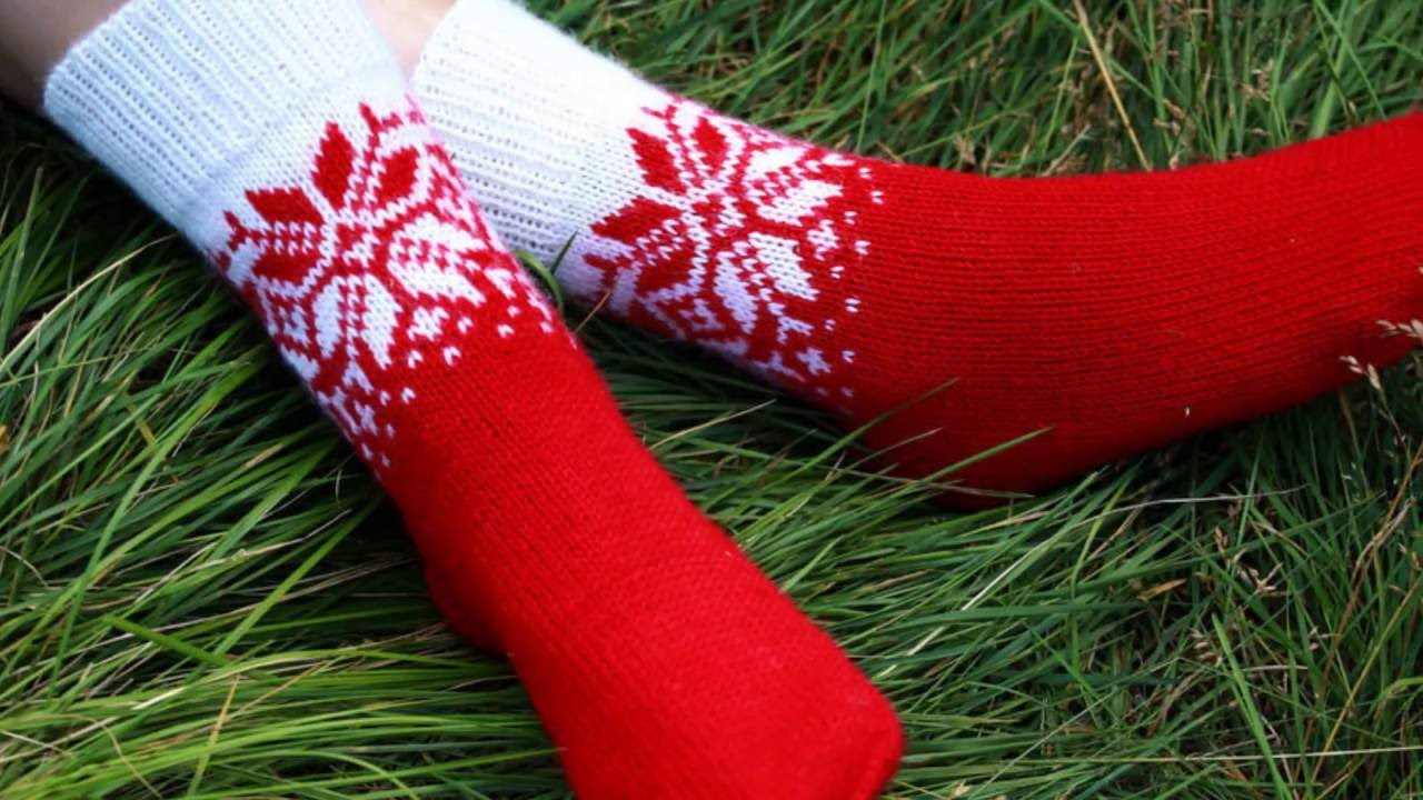 Как связать носки с жаккардом