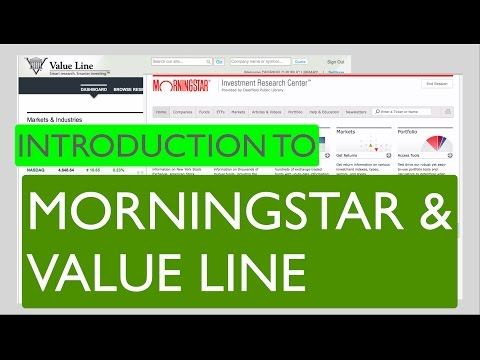 Introduction to Morningstar and Value Line - Deerfield Library eTutor