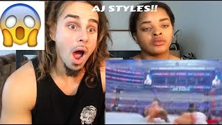 Top 40 Moves Of Aj Styles 2016 - COUPLE REACTS