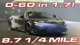 WORLD RECORD MCLAREN AT TX2K * 0-60 MPH in 1.7 Seconds * 8.7 1/4 Mile vs 1,400HP Sheepey Race R8