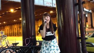 森本菜々「Believe」(西野カナ) 2014/06/29 大阪 梅田 新阪急ホテル前