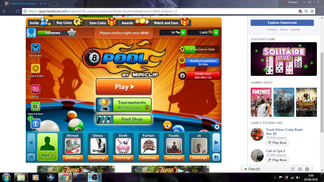 NEW HACK COIN 8 BALL POOL FREE WITH CHEAT ENGINE - YouTube