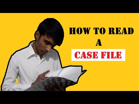 A better way for Lawyers to Read a CASE file