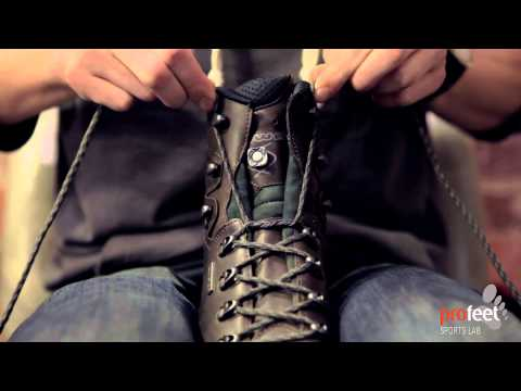 How to lace walking boots to prevent heel lift...