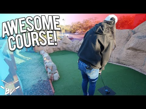 WHERE DOES THIS MINI GOLF HOLE EVEN GO?!