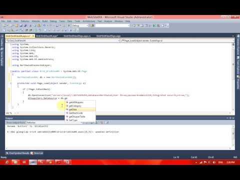 Bài 16 Lập Trình Web ASP.NET Kết hợp DropDownList với GridView