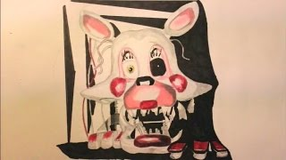mangle from five nights at freddys 2 step 10 drawing lesson