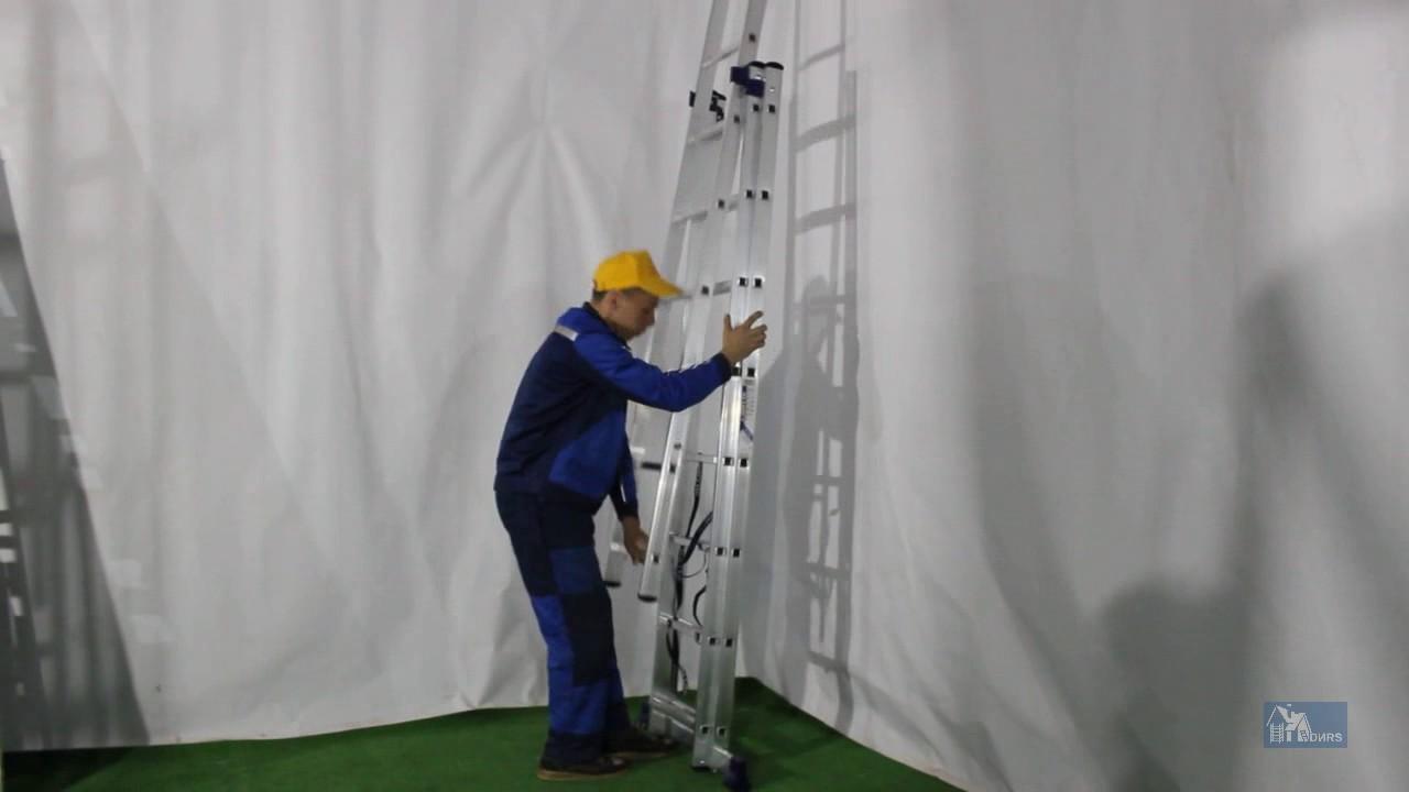 Телескопическая лестница Sturm TL0238 - YouTube