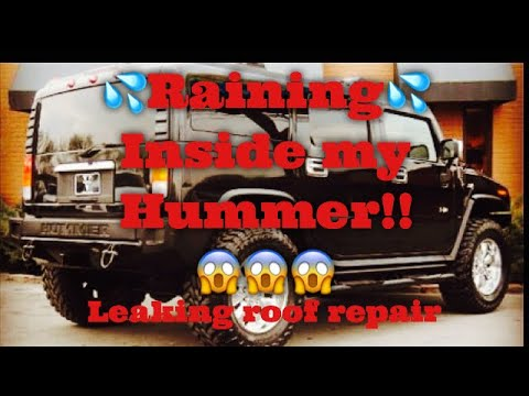 Hummer leaking water repair!!