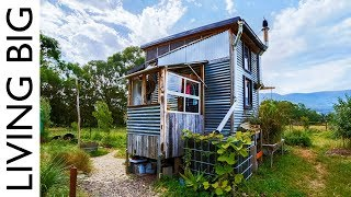 Incredible Salvaged Off-Grid Tiny House On Permaculture Farm