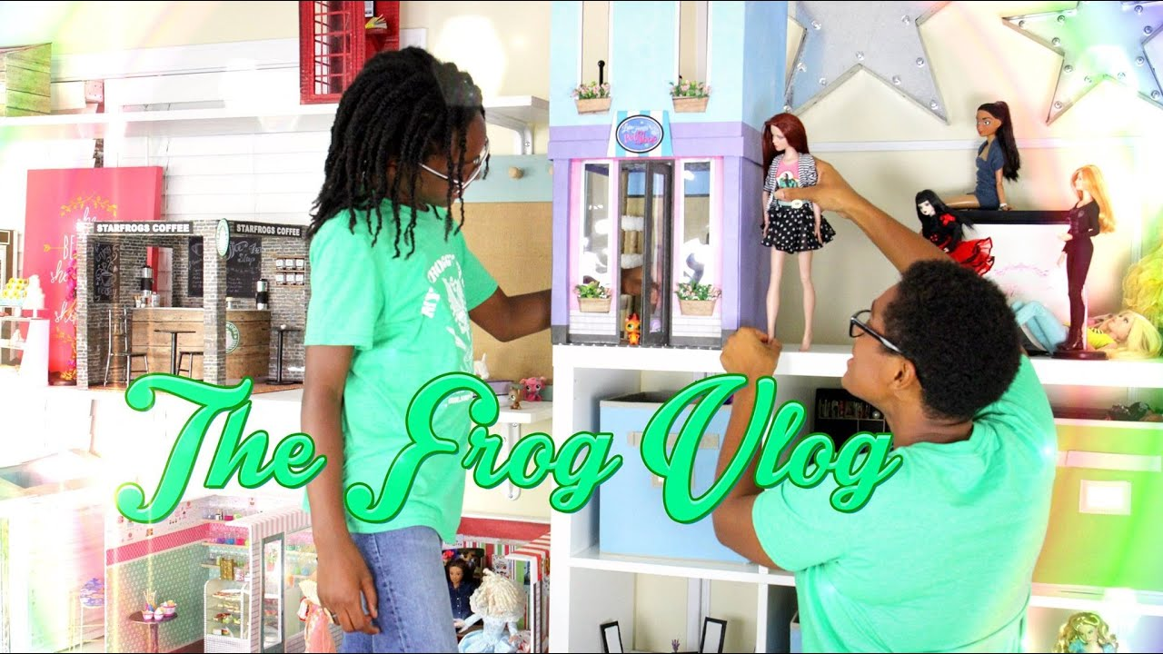 Barbie Girl Doll Wallpaper Diy The Frog Vlog Our Crafting Room Youtube