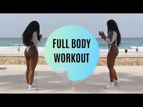 FULL BODY BEACH WORKOUT | NO EQUIPMENT, NO EXCUSES