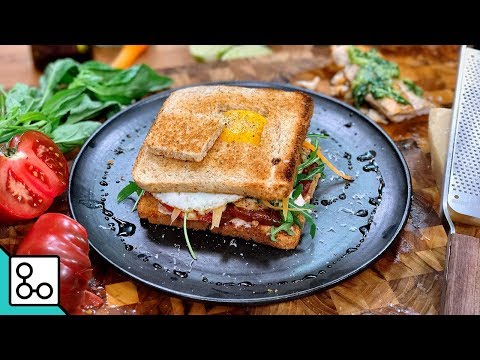 Club sandwich poulet pesto - YouCook