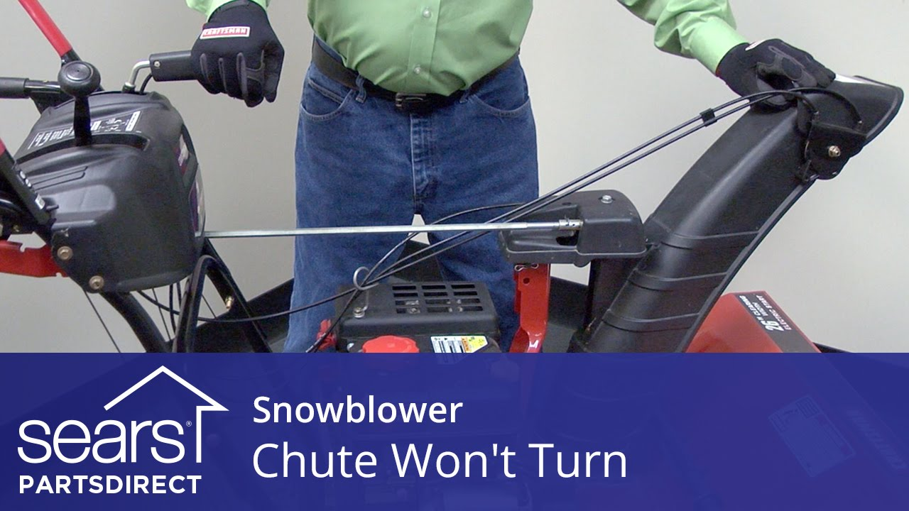 Snowblower Chute Won't Turn: Chute Control and Gearbox ...