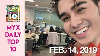 INIGO PASCUAL Surprises Girls Around ABS-CBN With Roses | MYX DAILY TOP 10