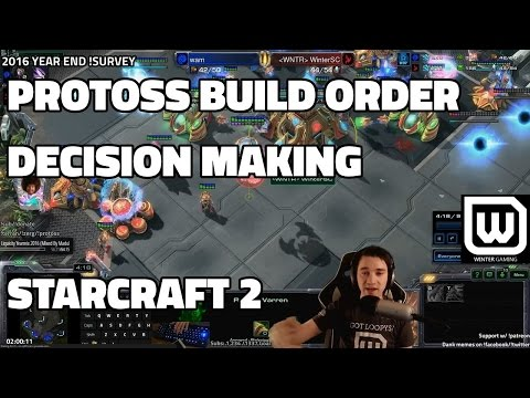 Starcraft 2 Protoss: Solid Build Order and How to choose your tech (LIVE GAME + replay)