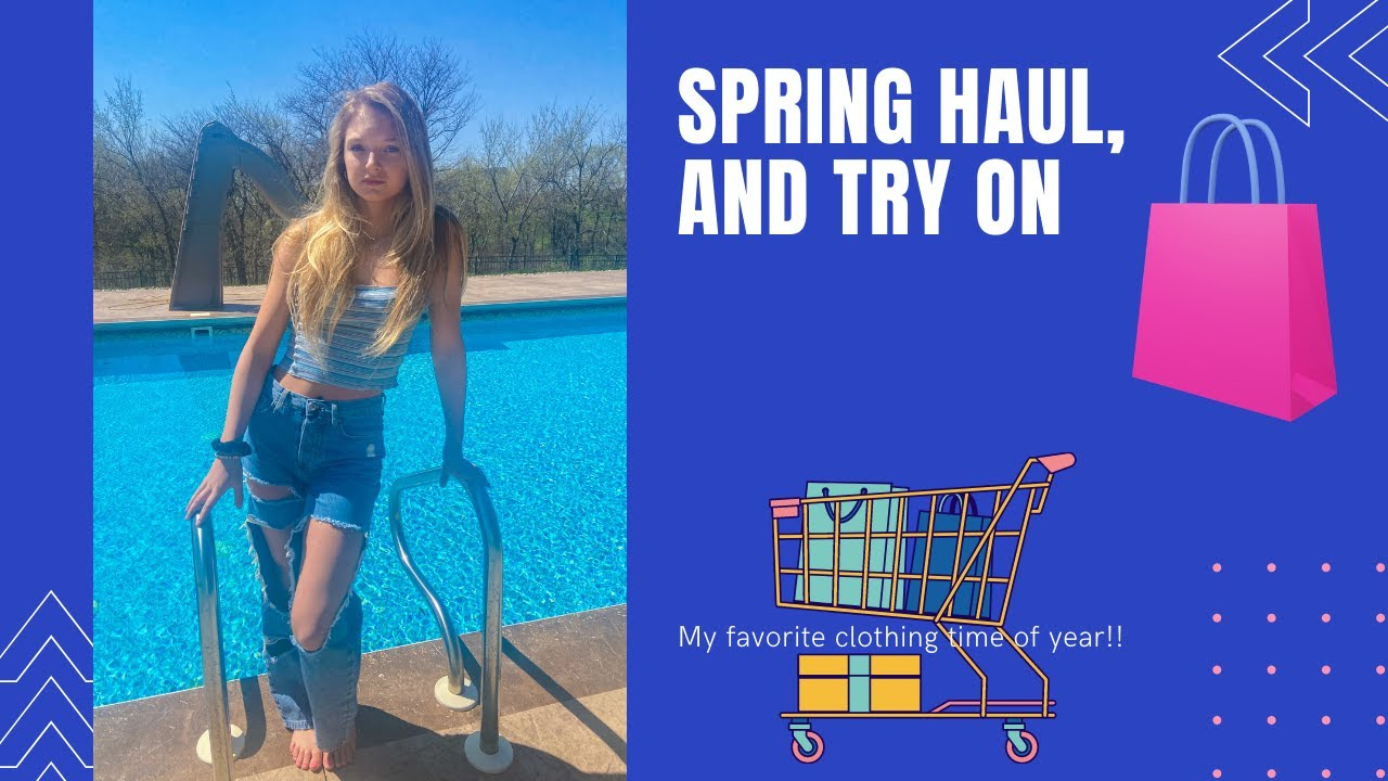CUTE SPRING CLOTHING HAUL AND TRY ON
