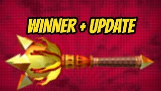 FLAME MACE GIVEAWAY WINNER ANNOUNCEMENT + CHANNEL UPDATE!! (ROBLOX)