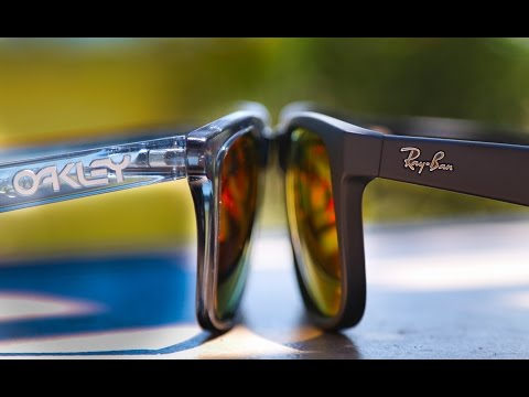 ray ban sunglasses vs. oakley  ray ban justin vs okaley frogskin