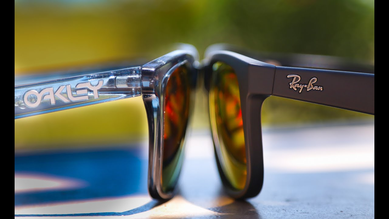 2107b6d0ce4 Ray-Ban Justin vs Oakley Frogskin - YouTube