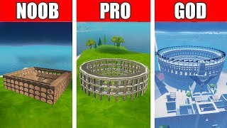 Fortnite NOOB vs PRO vs GOD: Colosseum Rome BUILD CHALLENGE in Fortnite