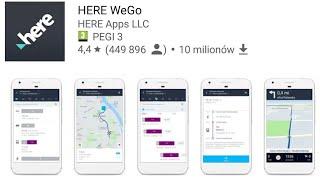 HERE WeGo Bezpłatna Nawigacja GPS Offline na Smartfona lub Tableta Android