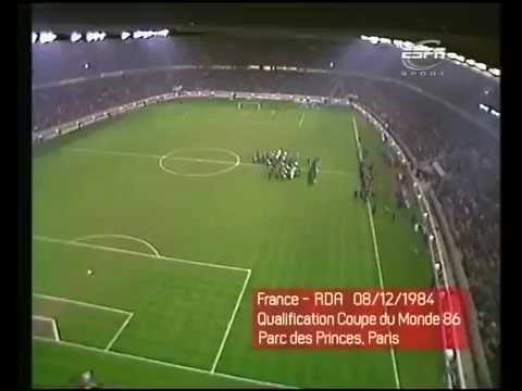 France vs East Germany 1984 - DDR Anthem (Choir)