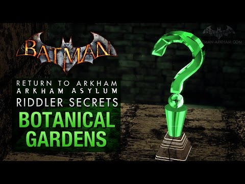 Batman: Return to Arkham Asylum - Riddler's Challenge - Botanical Gardens (All Collectibles)