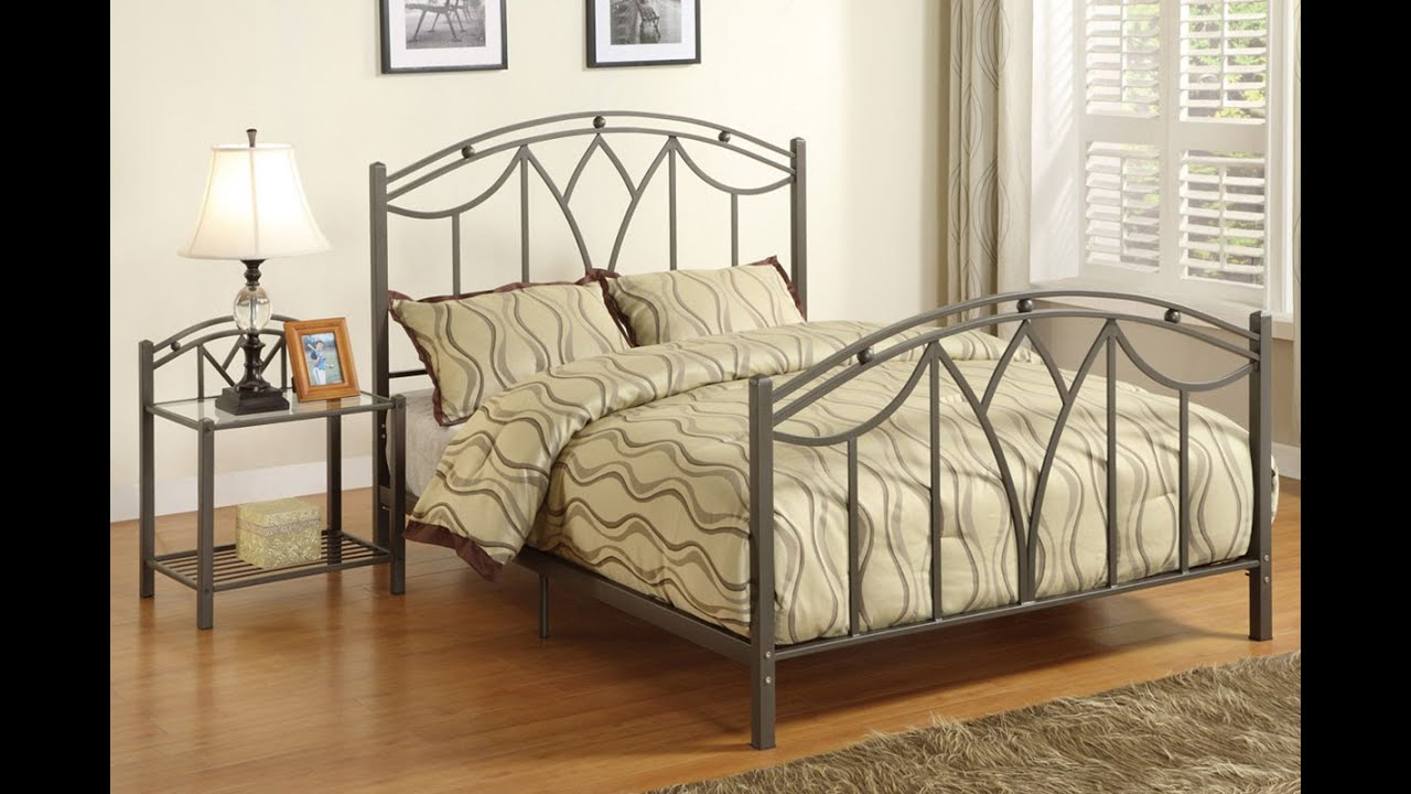 Metal Bedroom Furniture | Bedroom Furniture Metal Beds - YouTube