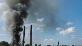 Huta Jedność Siemianowice Śląskie - Wyburzanie Kominów