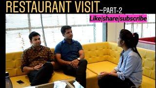 #SportsCafe #CafeVideosRestaurant visit   Interaction with owners~Part-2 (Sports Garage Cafe)