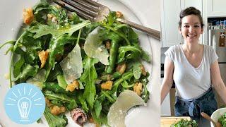 Asparagus & Crispy Beans With Mint & Grana Padano From Allison Arevalo | Genius Recipes