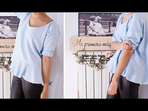 8c14abfff98 Как сшить блузку своими руками. Блузка своими руками. - YouTube