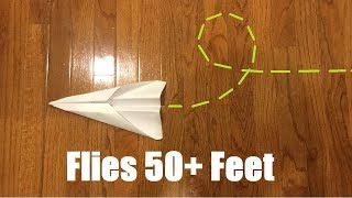 How To Make A Paper Plane That Flies 50 Feet In 2 Minutes {[Beginner Friendly]}