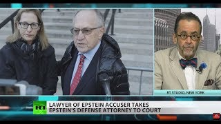 Epstein accuser's lawyer clashes with Alan Dershowitz
