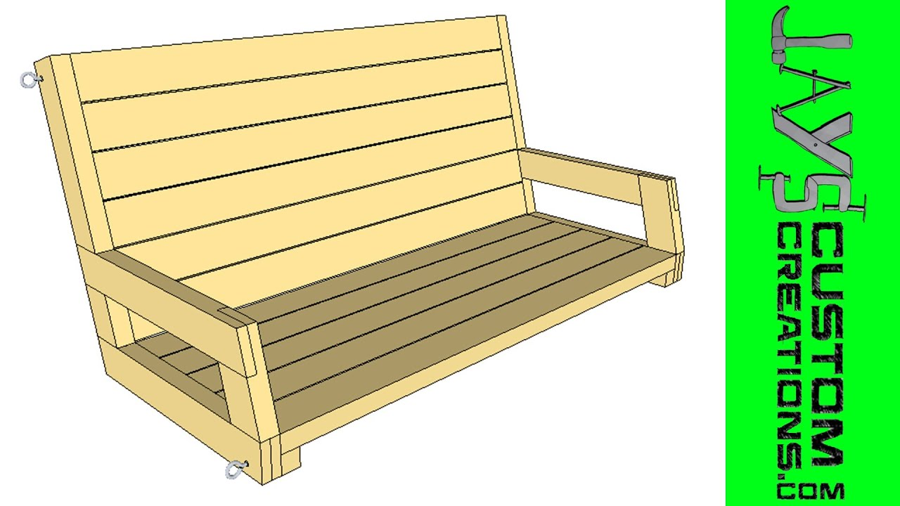 SketchUp 2x4 Porch Swing 095