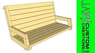Sketchup - 2x4 Porch Swing - 095