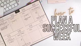 How To Plan A Successful Week | Sunday Weekly Planning Routine