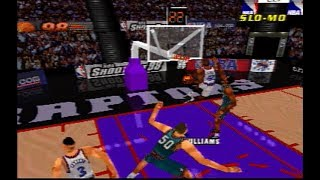 NBA ShootOut 98 - Grizzlies vs. Raptors *Gameplay* [PS1]